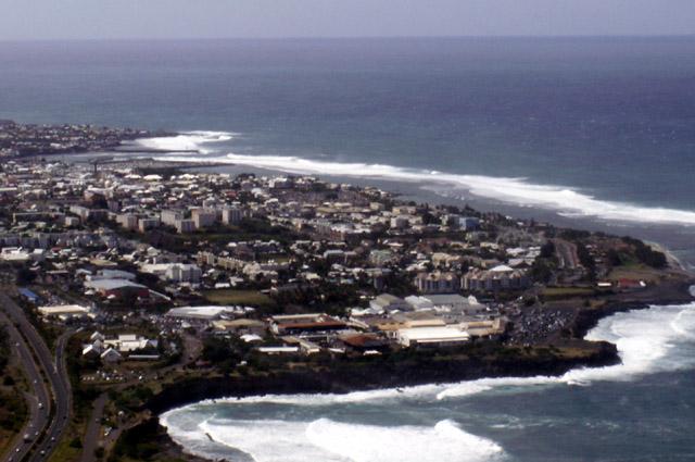 Vue sur le quartier de Ravine Blanche Saint-Pierre La Réunion