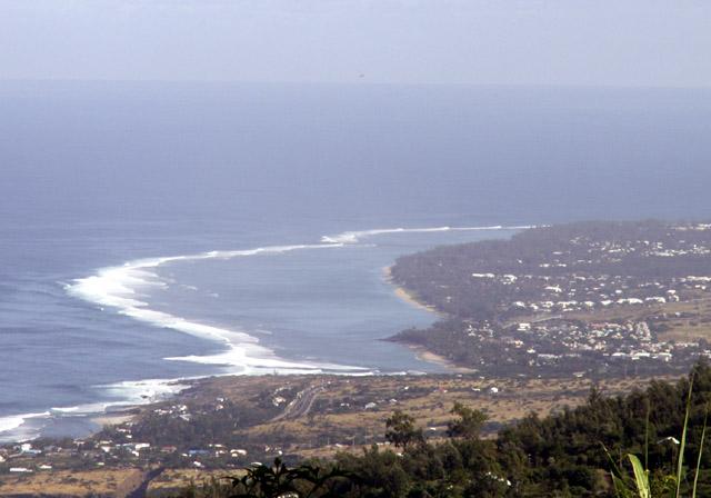 Vue sur la côte de Saint-leu île de La Réunion