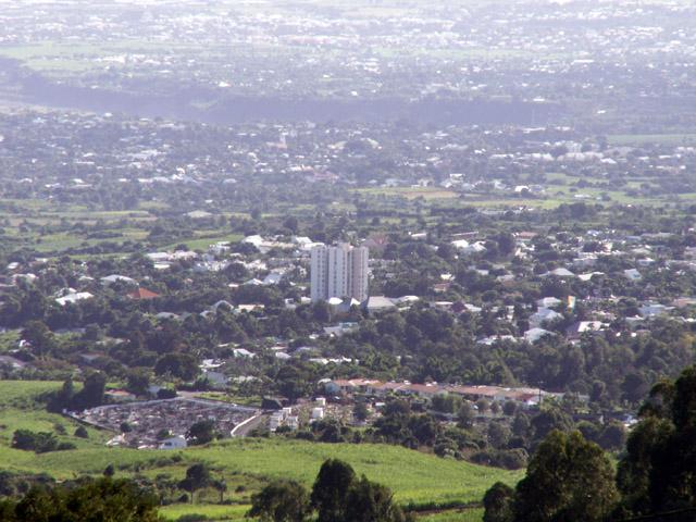 Vue sur la ville du Tampon île de La Réunion