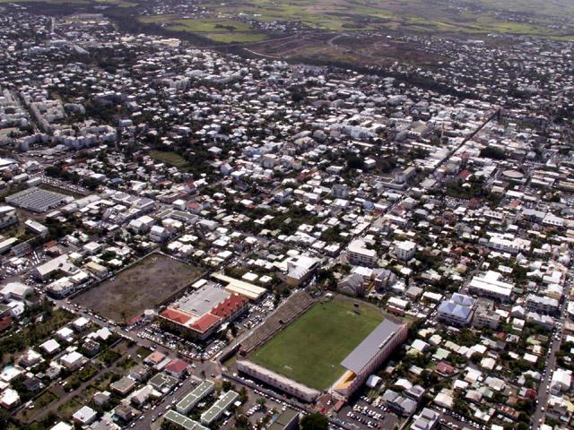 Vue aérienne de Saint-Pierre La Réunion
