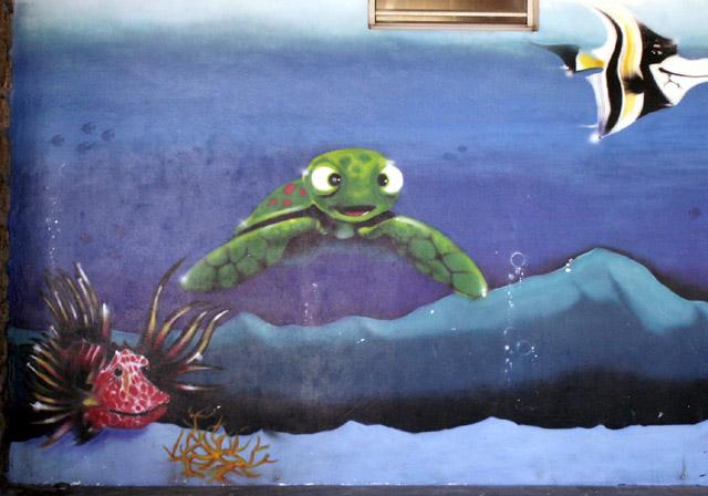 Graffiti Saint-Leu île de La Réunion