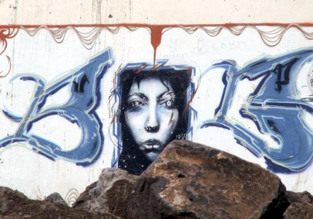 Graffiti Saint-Louis île de La Réunion