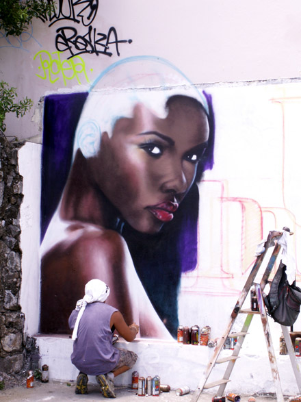 Tag graffiti à Saint-Pierre La Réunion