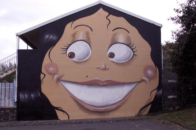 Graffiti, tag au Lycée professionnel de Saint-Pierre La Réunion