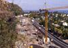 Viaduc de Saint-Paul. Travaux route des Tamarins. Photo du 19 octobre 2006