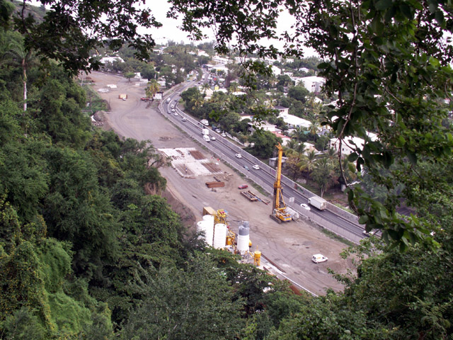 Route des Tamarins : Viaduc de Saint-Paul le 11-05-2006