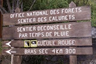 Sentier des Calumets panneau onf