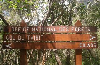 Col de Taïbit Panneau ONF