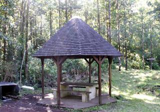 Kiosque : Sentier botanique de la forêt de Mare Longue.