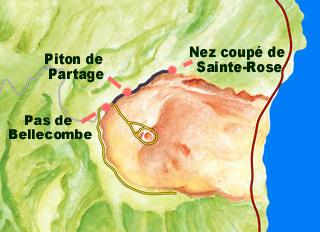 Plan randonnée Nez coupé de Sainte-Rose La Réunion