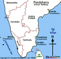 Carte du Sud de l'Inde