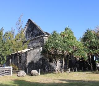 église Saint-Nicolas de Champ Borne détruite par le cyclone Jenny