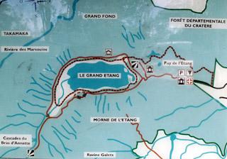 Carte sentier Grand-étang.