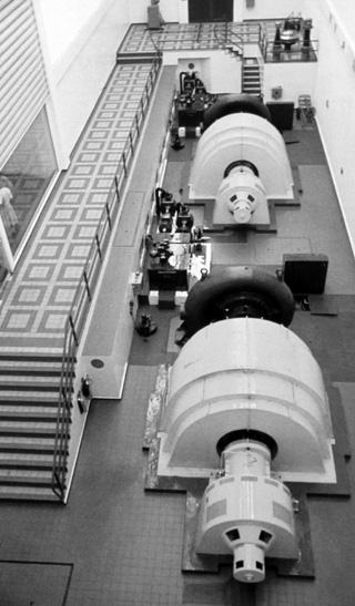 Turbines de l'usine de Takamaka