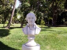 Buste de Joseph Hubert jardin de l'État Saint-Denis La Réunion.