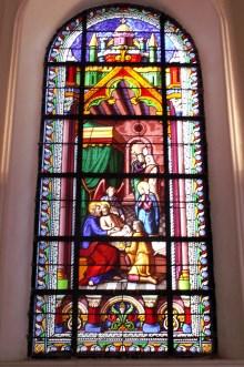 Vitrail chapelle de l'Immaculée Conception.