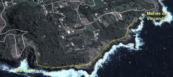 Cap Jaune. Sentier du Cap Jaune.