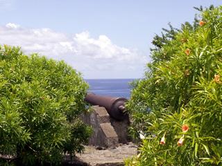 Batterie des sans culottes à Saint-Leu La Réunion.