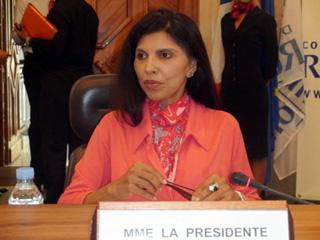 Nassimah Dindar Présidente du Conseil Régional de La Réunion