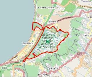 Réserve naurelle nationale de l'étang de Saint-Paul La Réunion.