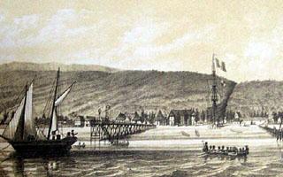 Débarcadère et Rade de Saint-Paul île de La Réunion