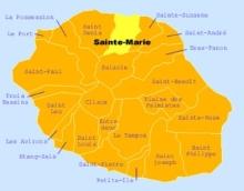 Carte de la commune de Sainte-Marie La Réunion