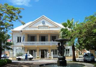 Mairie de Sainte-Suzanne île de La Réunion.