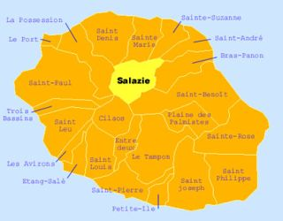 Carte de la commune de Salazie La Réunion