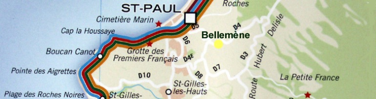 Carte Bellemène Saint-Paul La Réunion