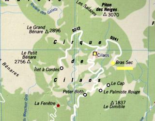 Carte Bras sec Cilaos La Réunion