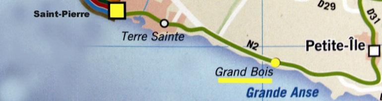 Carte Grand-Bois La Réunion