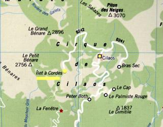 Carte îlet à Cordes Cilaos La Réunion