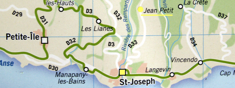 Carte plan Jean Petit La Réunion