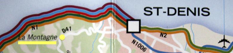 Carte La Montagne commune de Saint-Denis La Réunion