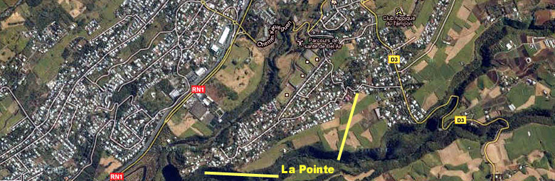 Carte plan La Pointe quartier du Tampon La Réunion