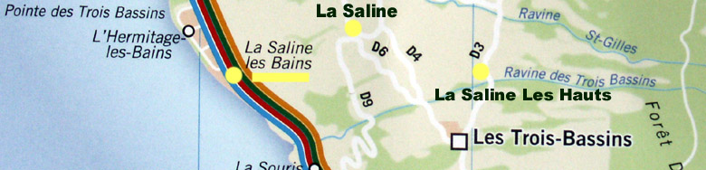 Carte La Saline commune de Saint-Paul La Réunion