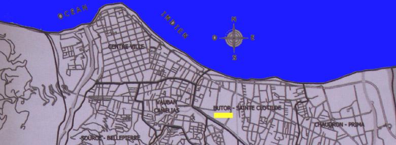 Carte Le Butor Quartier de Saint-Denis de La Réunion