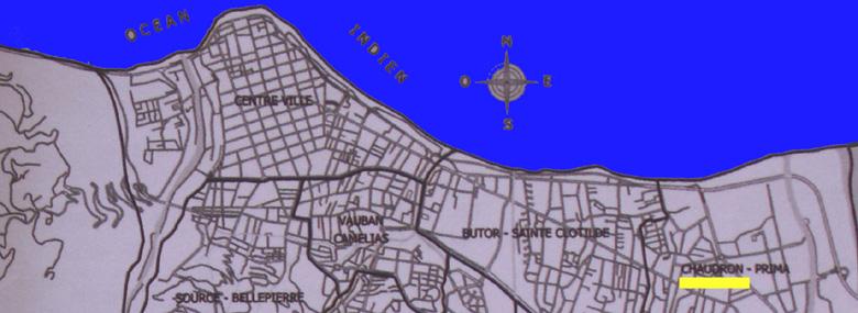 Carte Le Chaudron Quartier de Saint-Denis de La Réunion