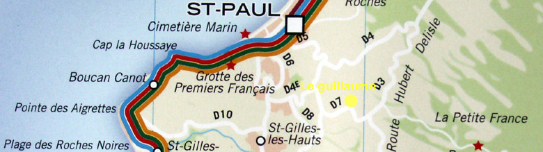 Carte Le Guillaume commune de Saint-Paul La Réunion