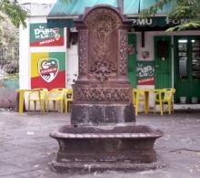 Fontaine Tortue quartier de La Rivière à Saint-Denis La Réunion.