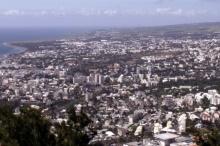 Vue sur le quartier de Bellepierre Saint-Denis La Réunion.