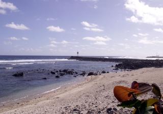 Plage de Terre Sainte La Réunion.