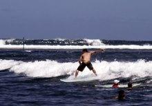 surf à l'île de La Réunion
